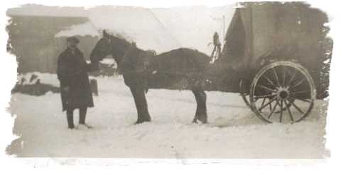 Man with his horse and cart